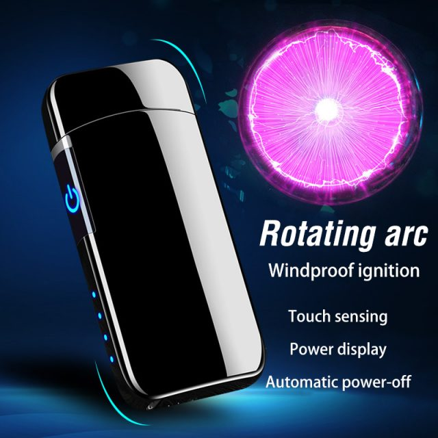 2020 Spinning Plasma Arc Cigarette Lighter  USB Electric Windproof