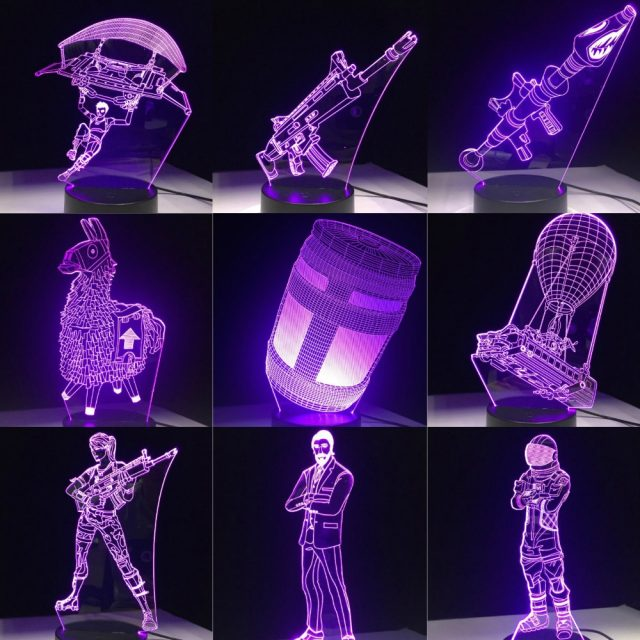 Game 3D LED Lamp 7 Colors Touch Switch Table Desk Light  Acrylic