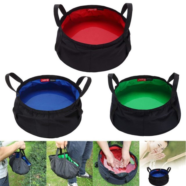 8.5L Portable Collapsible Outdoor Wash Basin for Camping