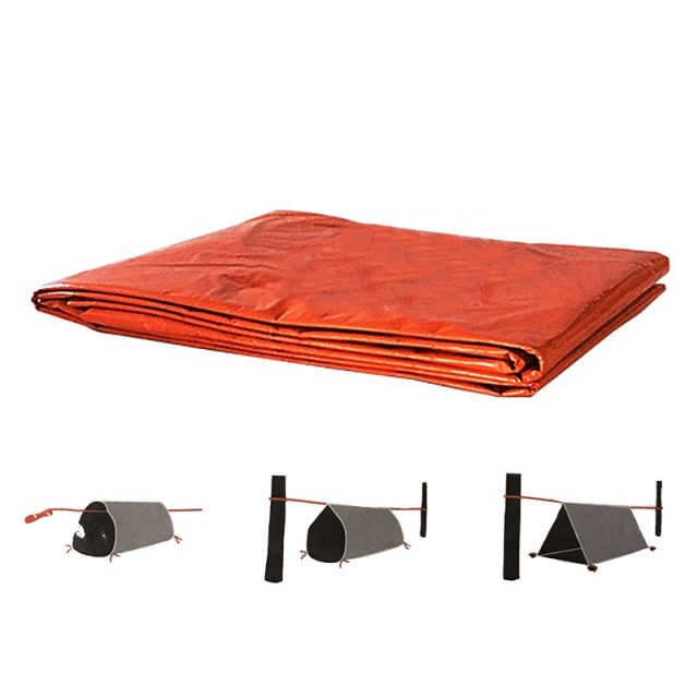 2 Person Emergency Shelter Waterproof Thermal Sleeping Bag – Tube Tent With Whistle