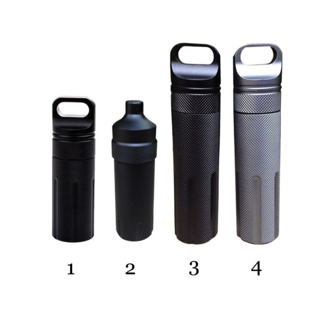 Waterproof Emergency First Aid Kits Safety Survival Pill Bottle Aluminium