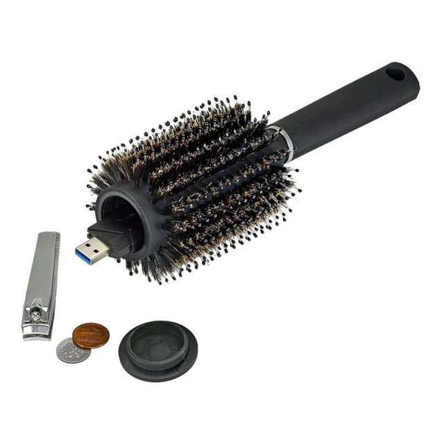 Hair Brush Hidden Storage Box