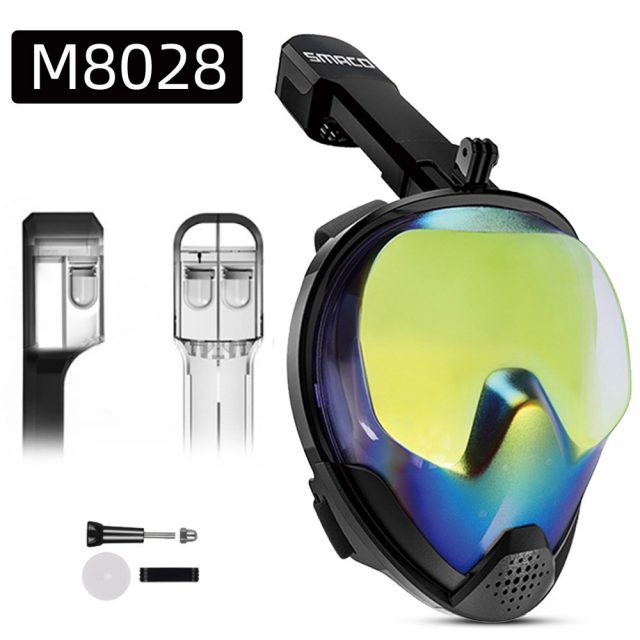 Full Face Snorkeling Mask Set Camera Attachment