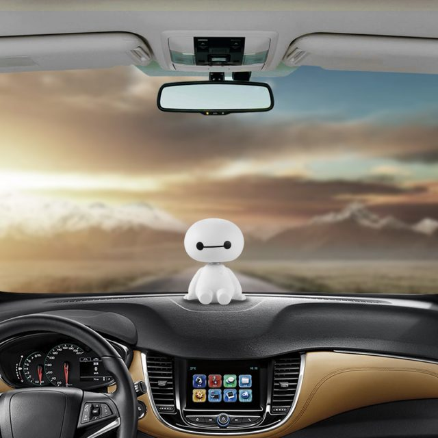 Robot Head Shaking Figure for Car Decoration