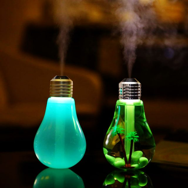 Bulb Shaped Air Humidifier with LED Night Light