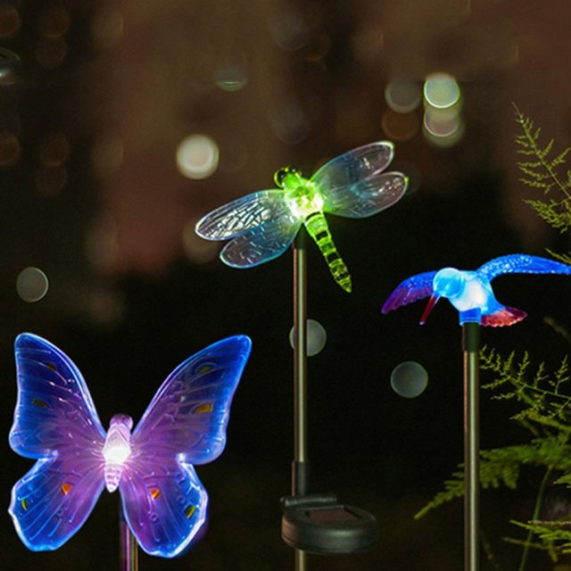 Cartoon Style Solar Power Garden LED Lights